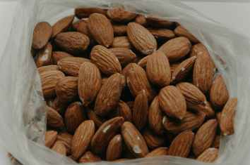 close up photography of almond nuts